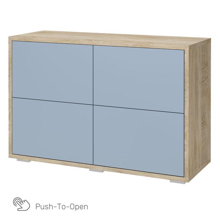 Ашо Комод с 4 ящиками 1,2 м, SOFT TOUCH голубой