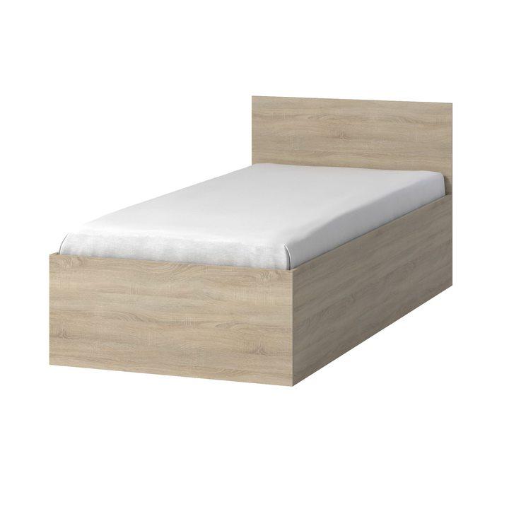 Тюс Кровать со спальным местом 2 х 0,9, ЛДСП дуб сонома