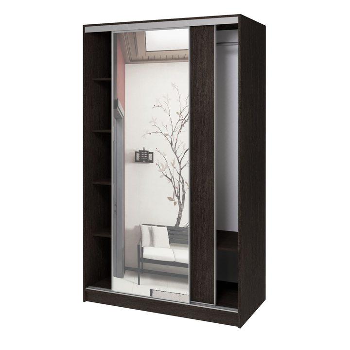 Валске Шкаф купе ширина 1,2 метра, корпус венге, фасад венге, зеркало