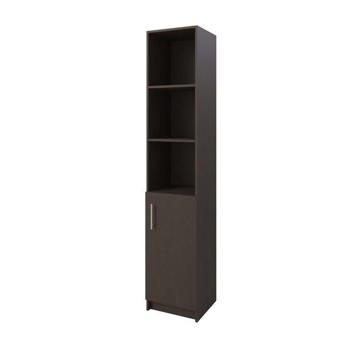 Толга Шкаф распашной комбинация для хранения с дверкой, ЛДСП венге