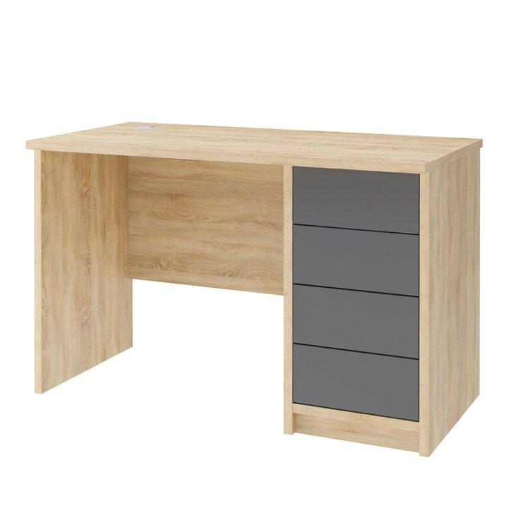 Валске Компьютерный стол с 4 ящиками, SOFT TOUCH серый