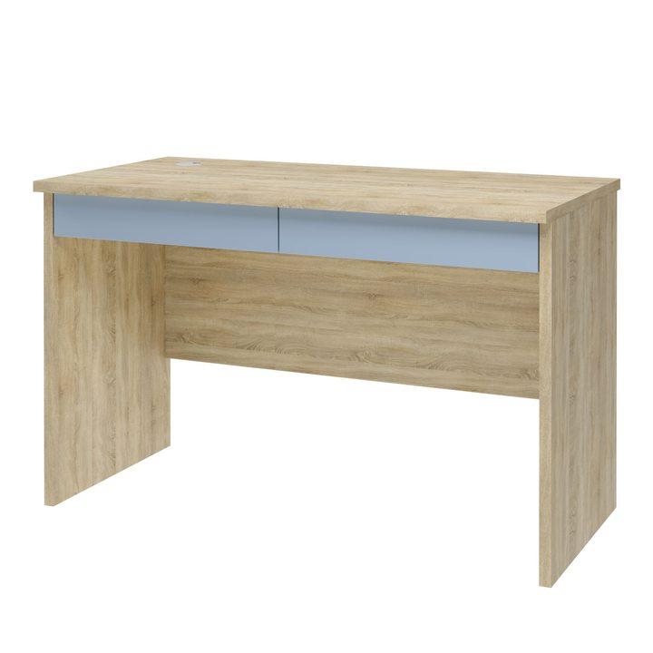Вирь Письменный стол с 2 ящиками, SOFT TOUCH голубой