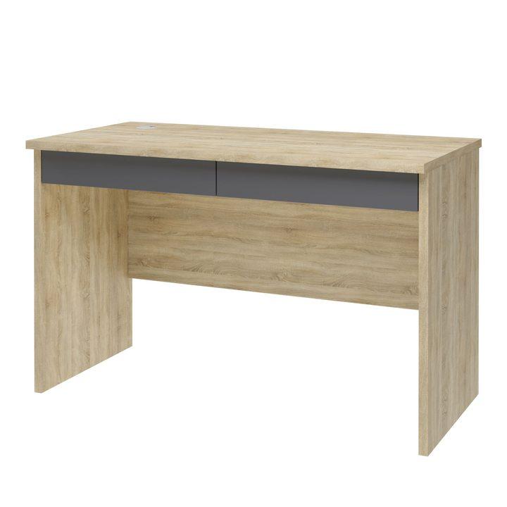 Вирь Письменный стол с 2 ящиками, SOFT TOUCH серый