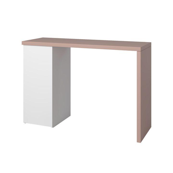 Аво Туалетный столик с распашной дверкой, пурпурная столешница, ЛДСП белый