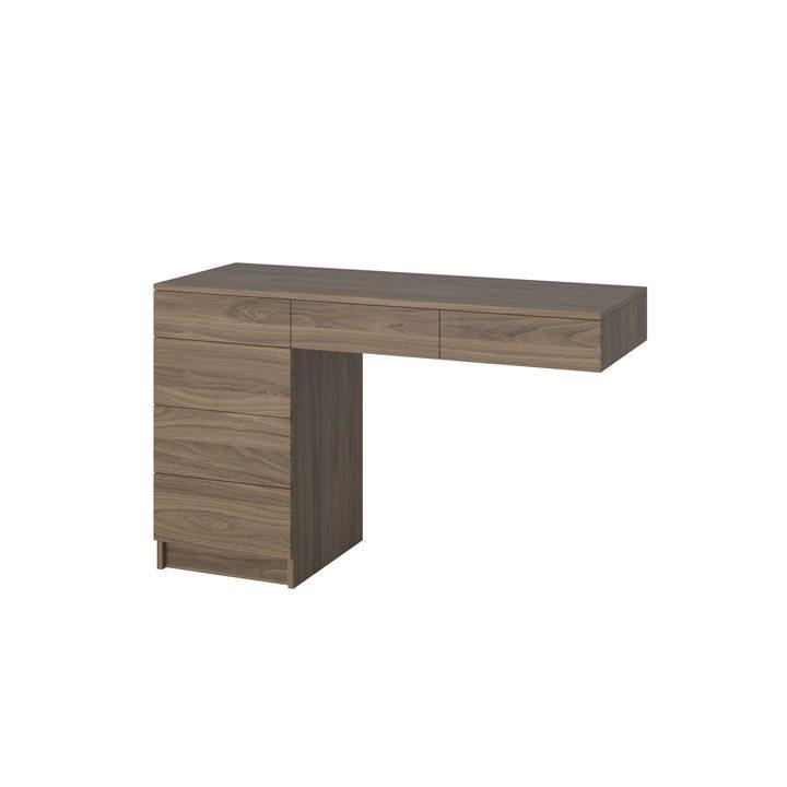 Атне Туалетный столик с 6 ящиками, ЛДСП орех карини натуральный